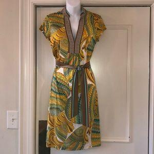 Trina Turk printed silk jersey dress sz 4